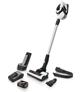 Bosch BCS122GB Unlimited Cordless Vacuum Cleaner, White
